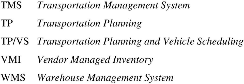 Planning and Vehicle Scheduling VMI Vendor