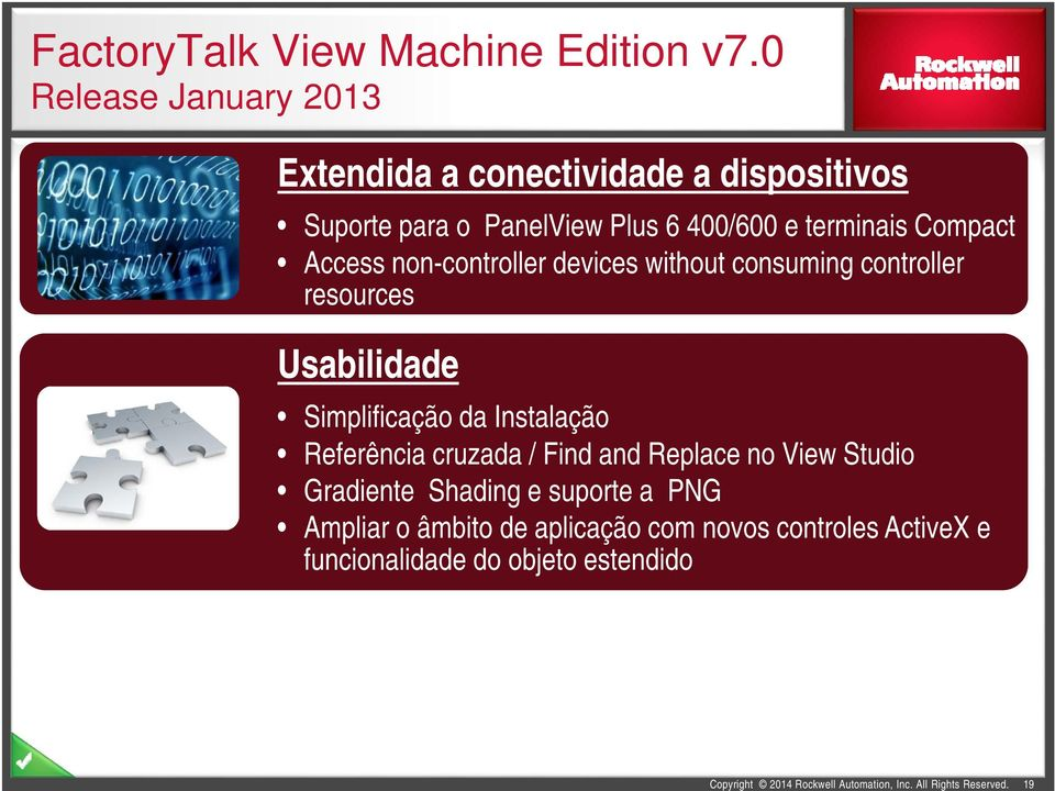 terminais Compact Access non-controller devices without consuming controller resources Usabilidade Simplificação