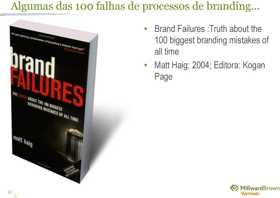 .. Brand Failures :Truth about the 100