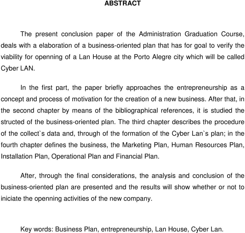 In the first part, the paper briefly approaches the entrepreneurship as a concept and process of motivation for the creation of a new business.
