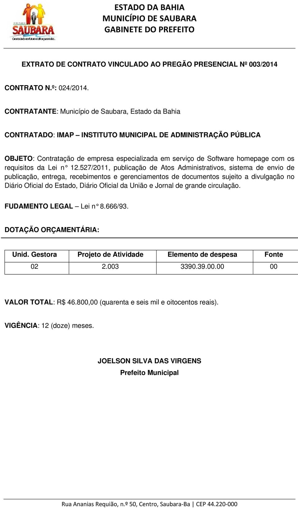 requisitos da Lei n 12.