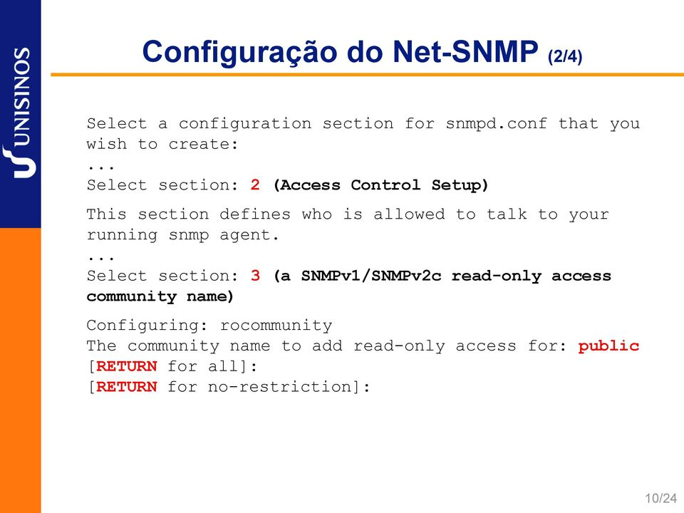 snmp agent.