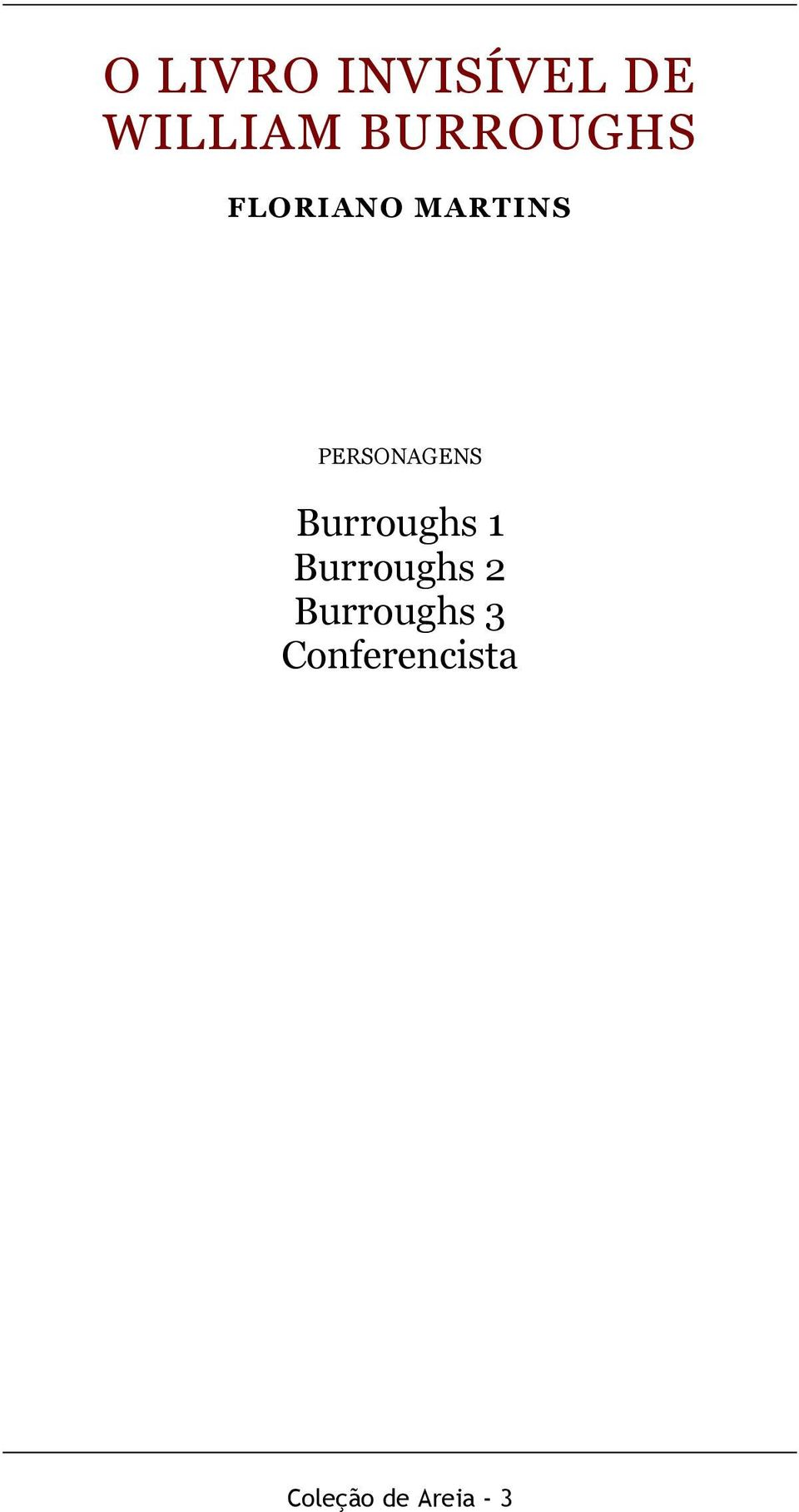PERSONAGENS Burroughs 1 Burroughs