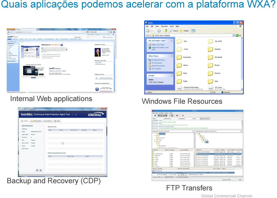 Internal Web applications Windows