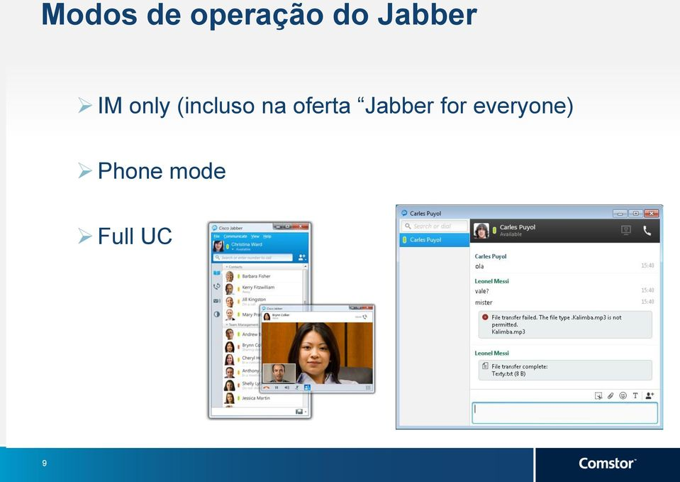na oferta Jabber for