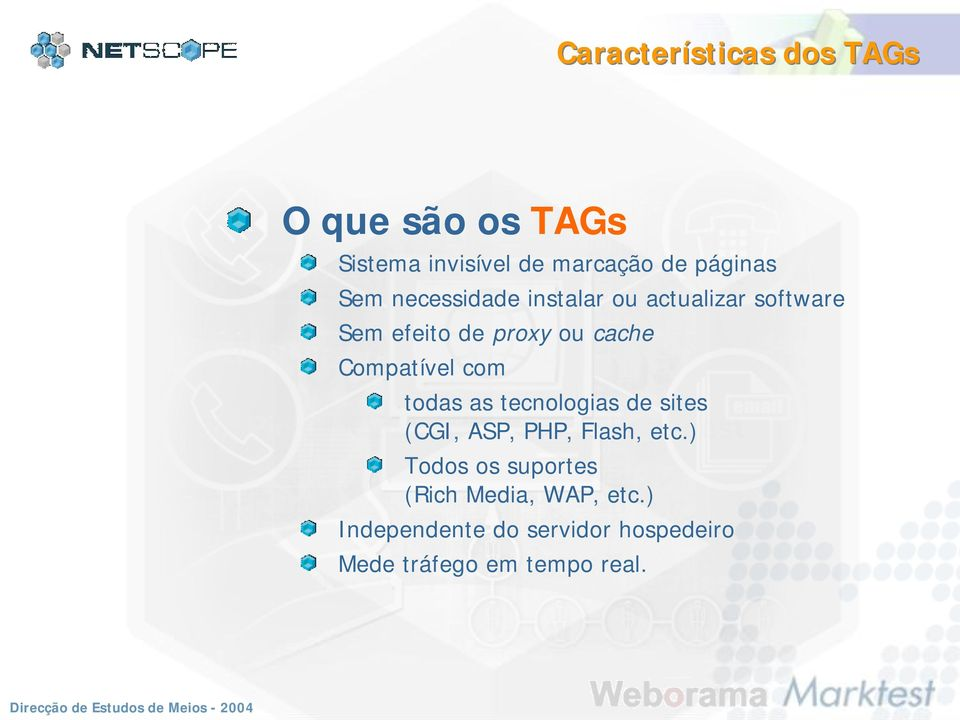 Compatível com todas as tecnologias de sites (CGI, ASP, PHP, Flash, etc.