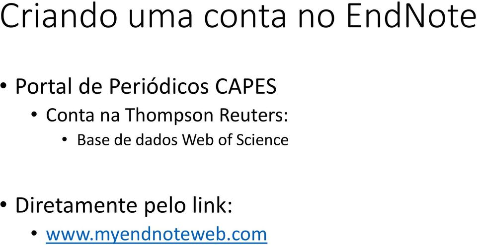 Reuters: Base de dados Web of Science