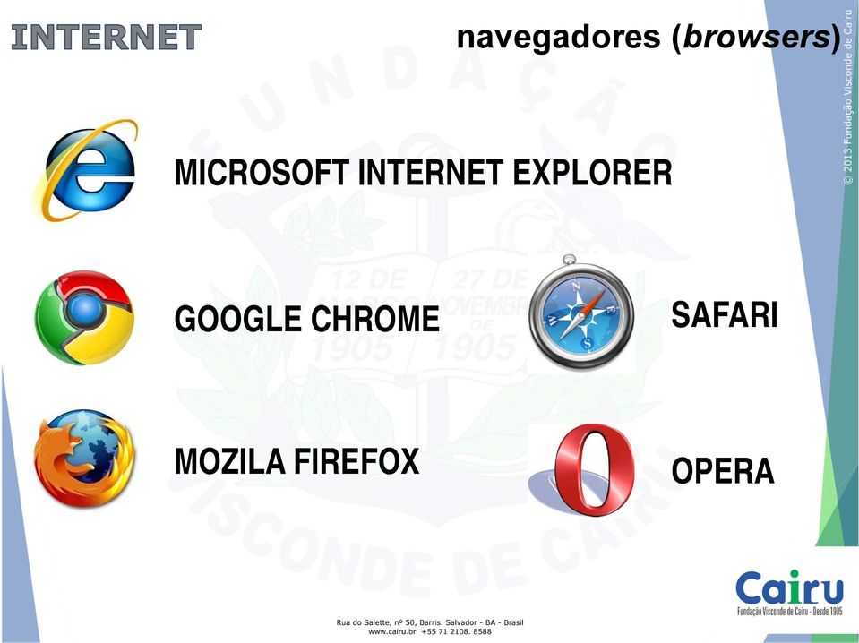 EXPLORER GOOGLE CHROME