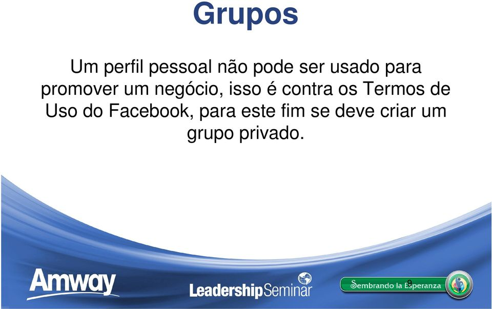 contra os Termos de Uso do Facebook,