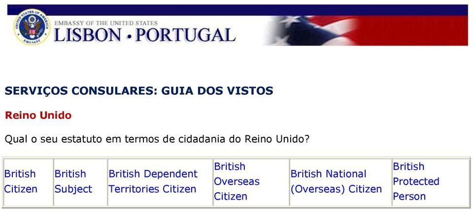 British Citizen British Subject British Dependent