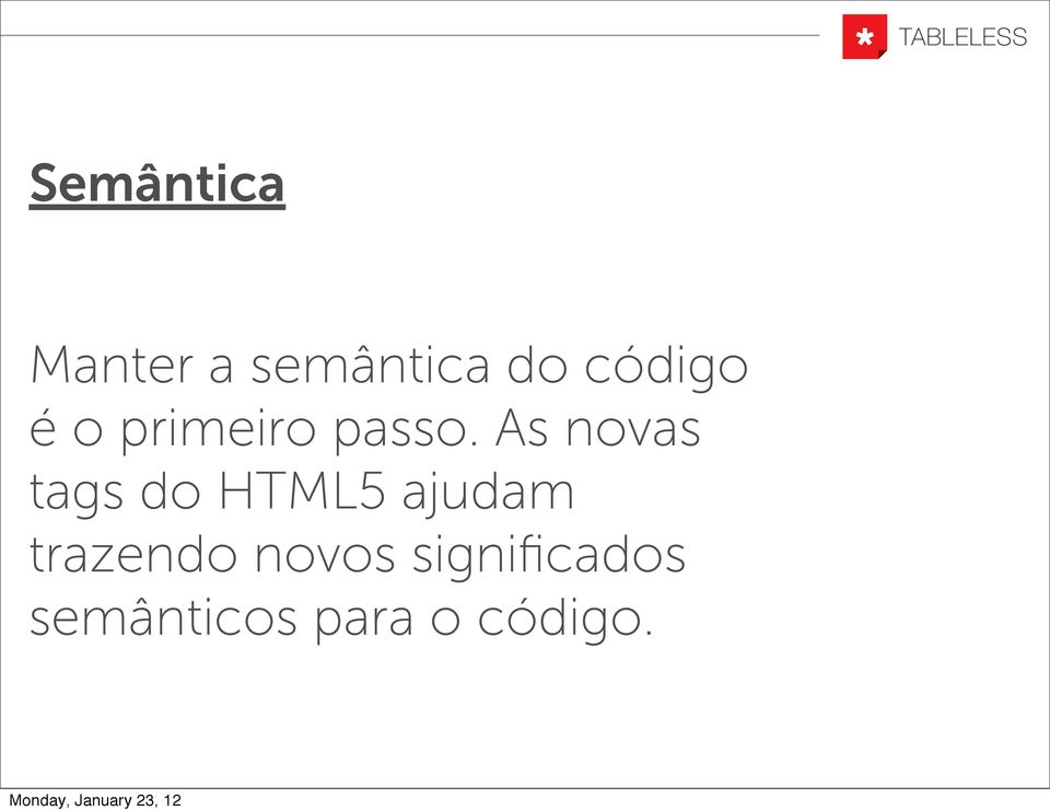 As novas tags do HTML5 ajudam
