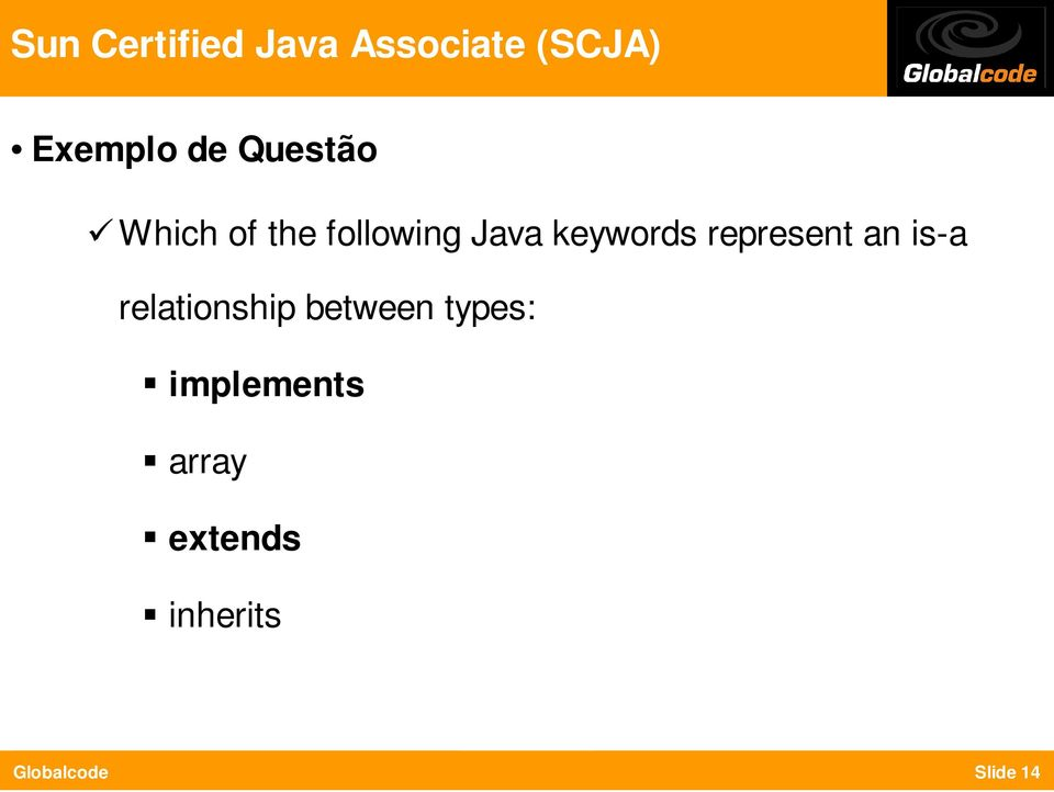 keywords represent an is-a relationship