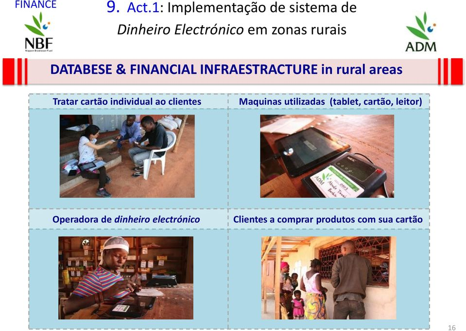 DATABESE & FINANCIAL INFRAESTRACTURE in rural areas Tratar cartão