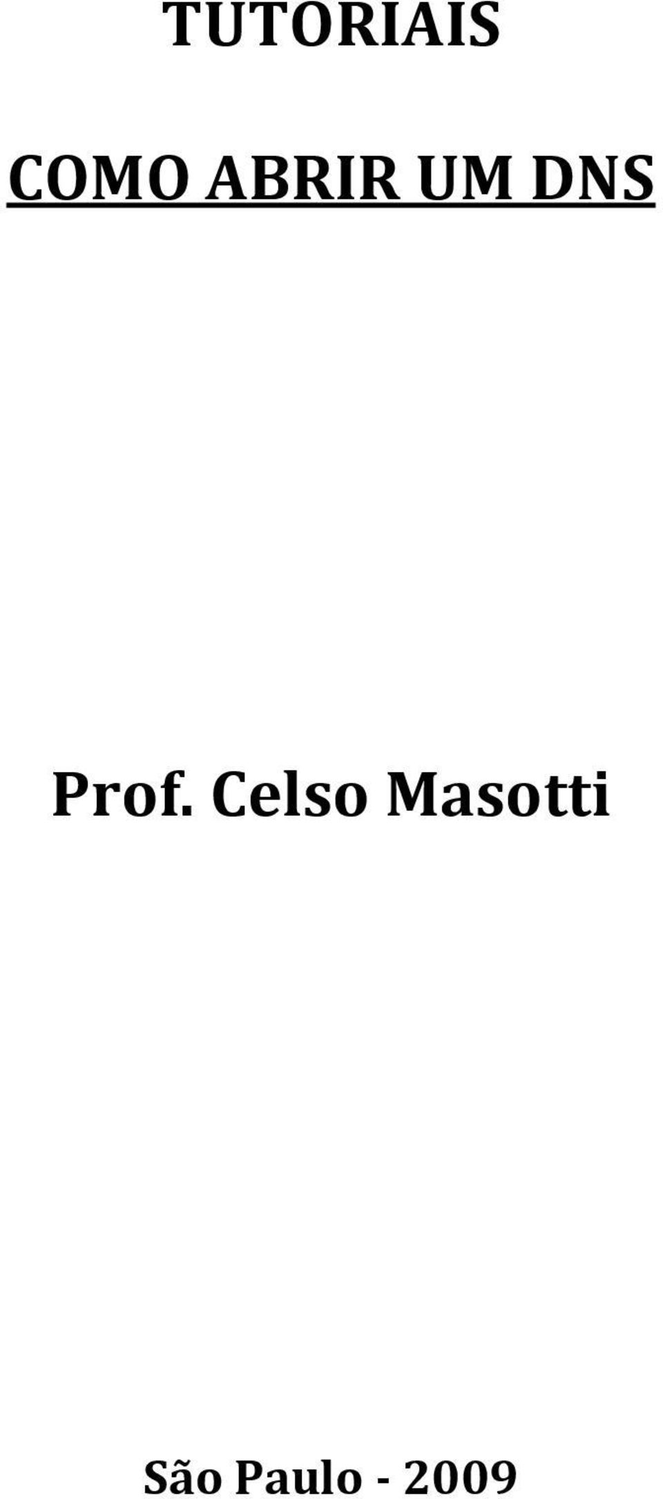 Prof. Celso