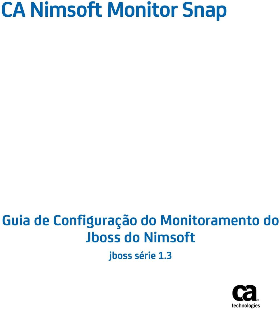 Monitoramento do Jboss