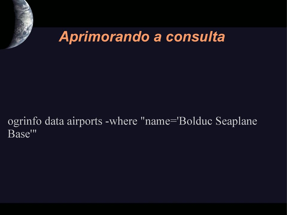 data airports -where