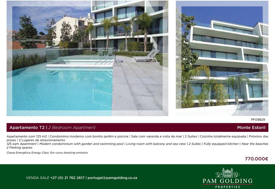 praias 2 Lugares de estacionamento 125 sqm Apartment Modern condominium with garden and swimming pool