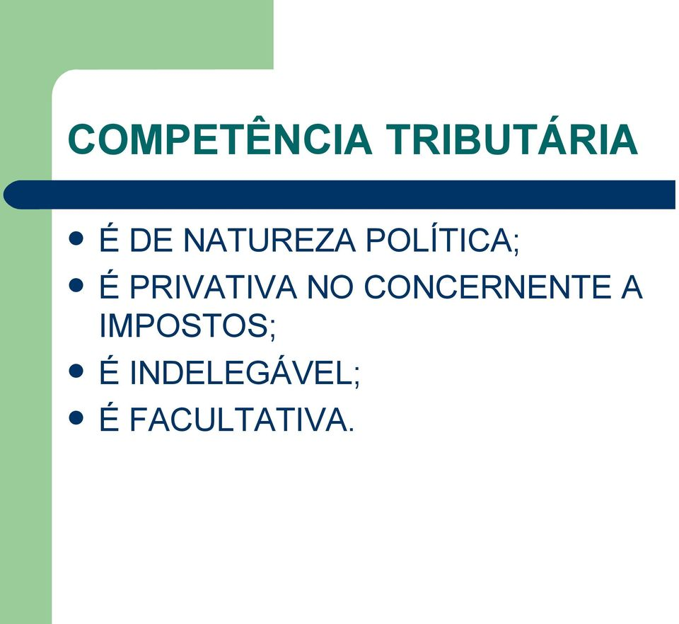 PRIVATIVA NO CONCERNENTE A