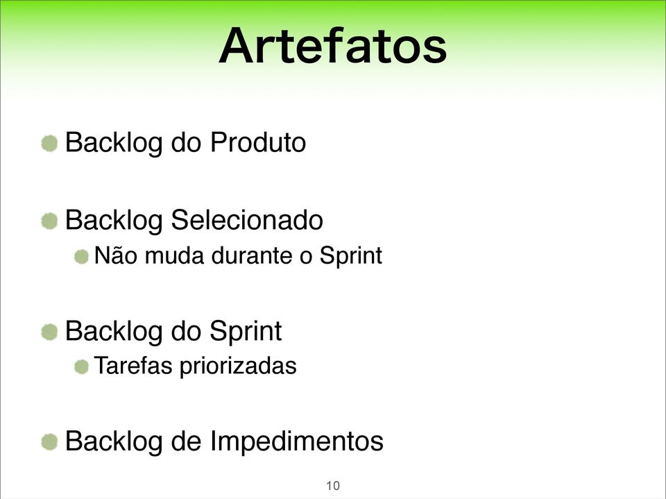 Sprint Backlog do Sprint Tarefas