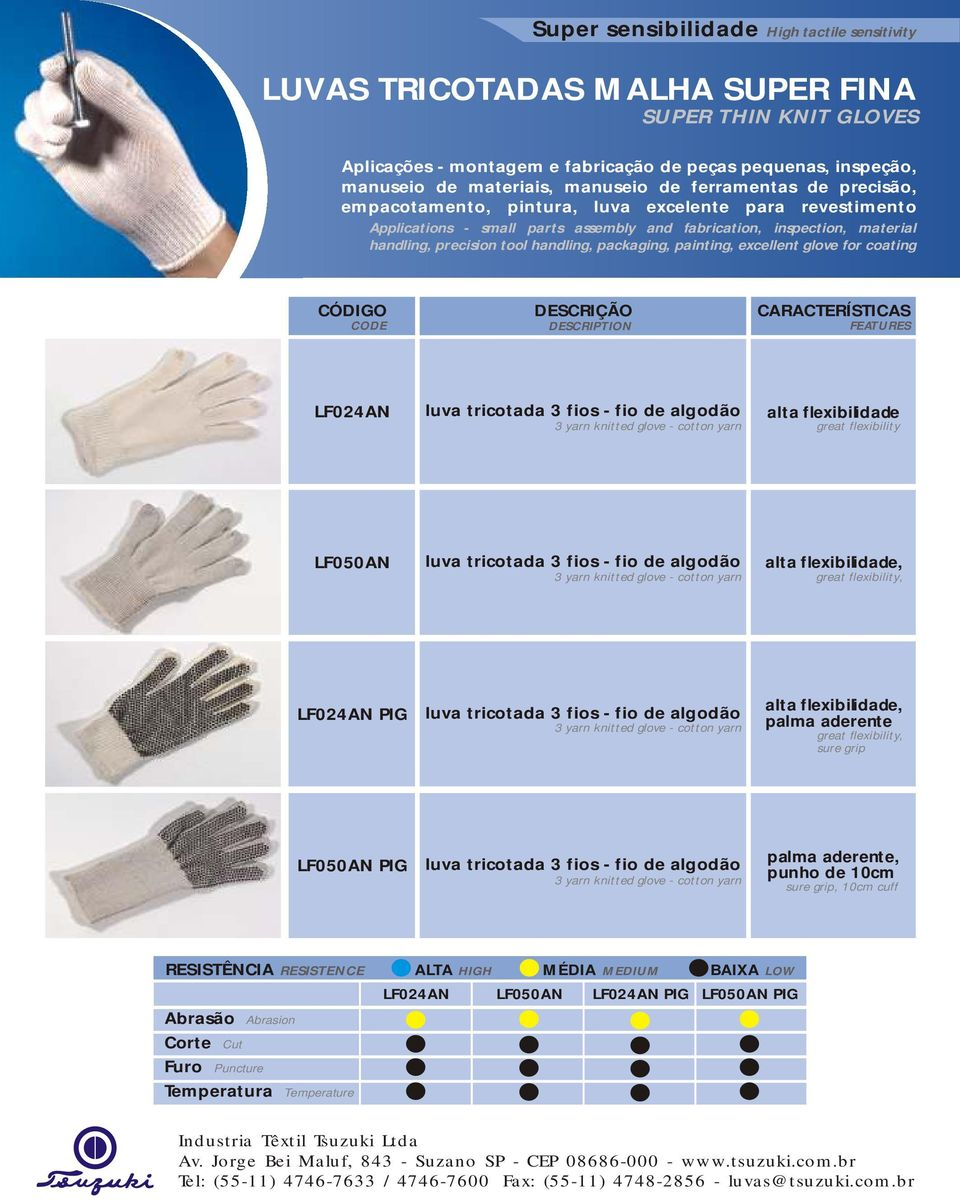 - small parts assembly and fabrication, inspection, material handling, precision tool handling, packaging, painting, excellent glove for coating
