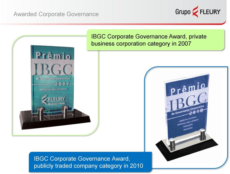 corporation category in 2007 IBGC Corporate
