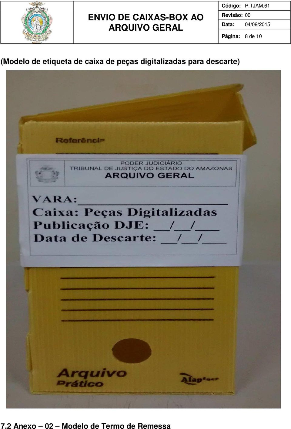digitalizadas para descarte) 7.