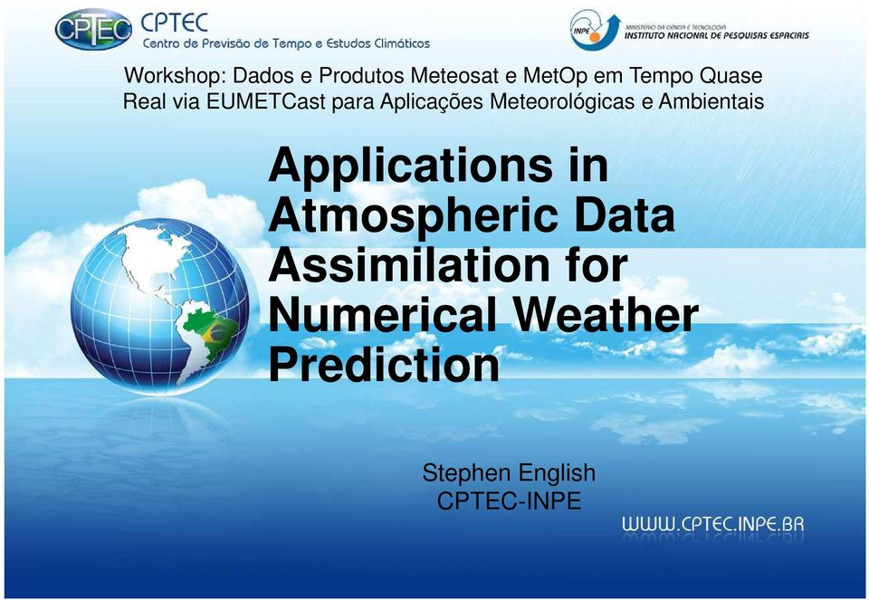 e Ambientais Applications in Atmospheric Data