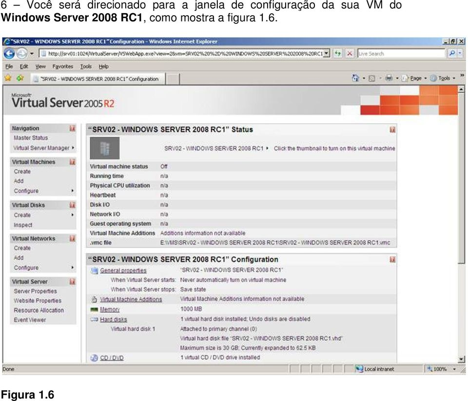 VM do Windows Server 2008 RC1,