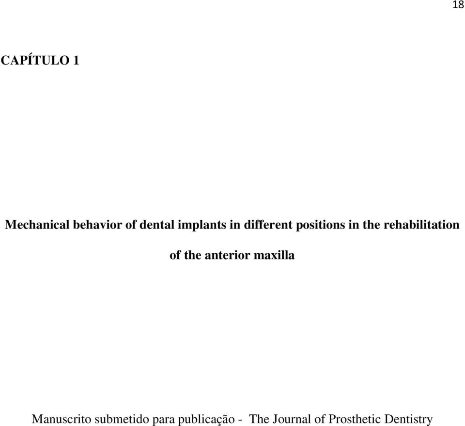 rehabilitation of the anterior maxilla