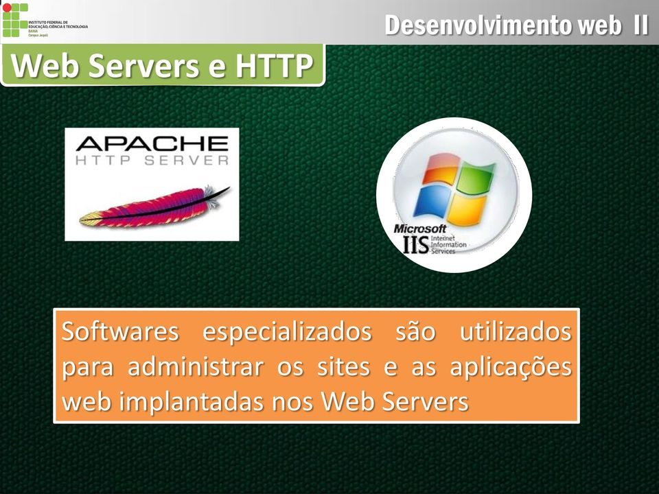 para administrar os sites e as