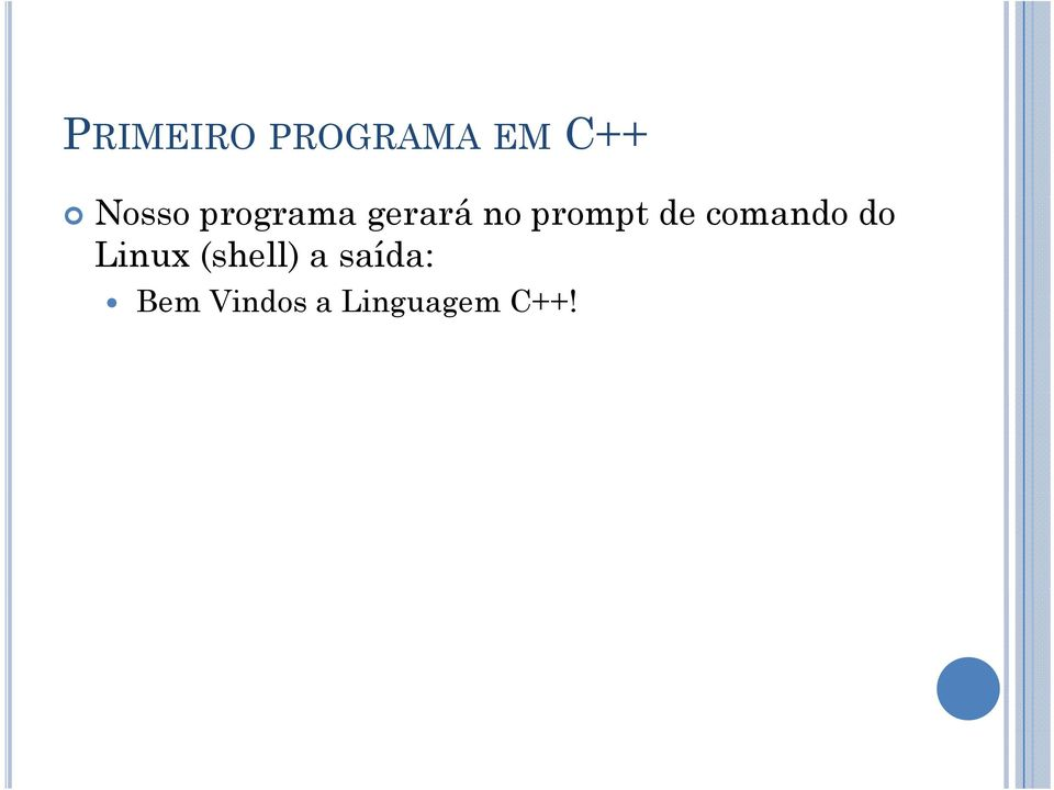 comando do Linux (shell) a