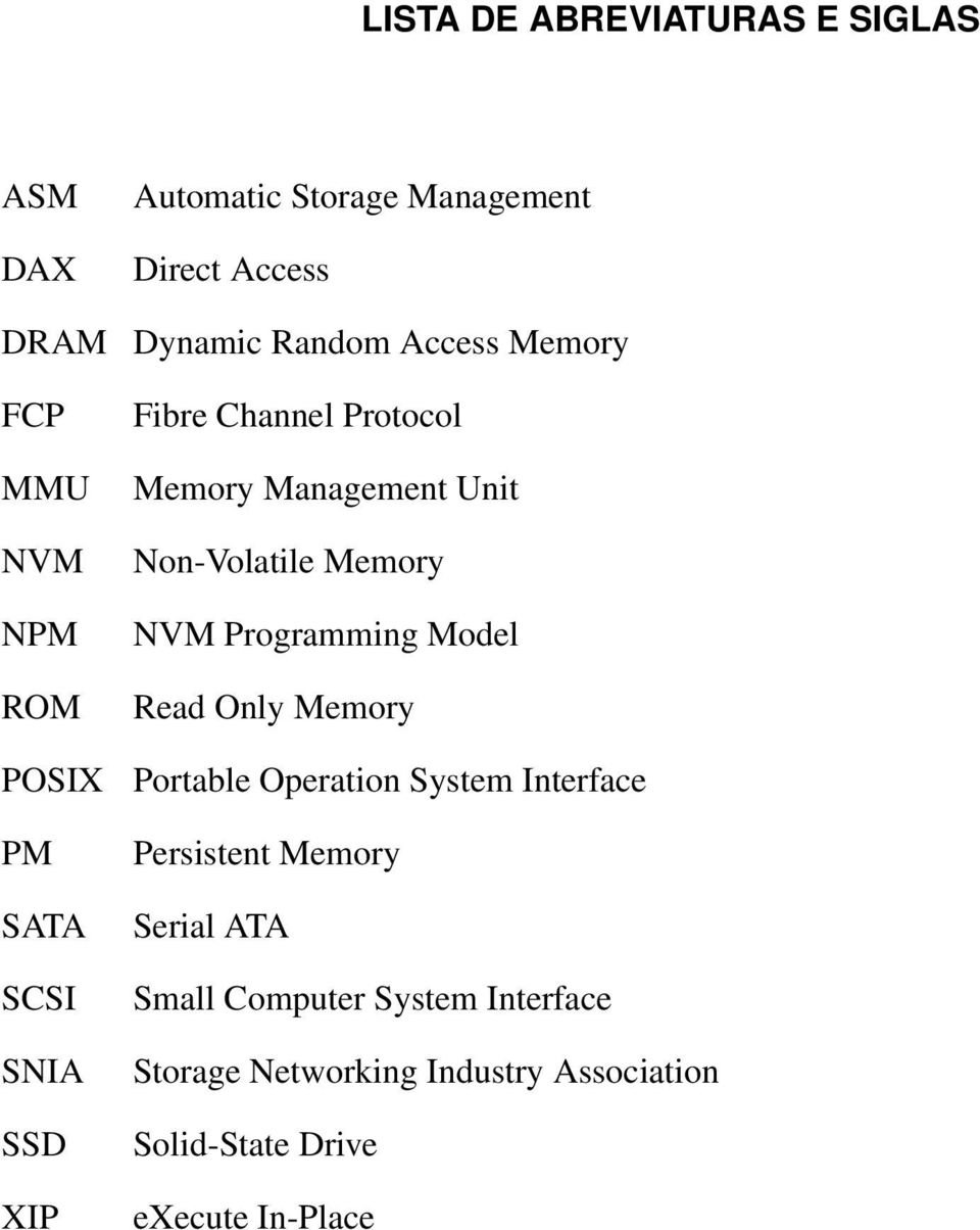 Non-Volatile Memory NVM Programming Model Read Only Memory Portable Operation System Interface Persistent