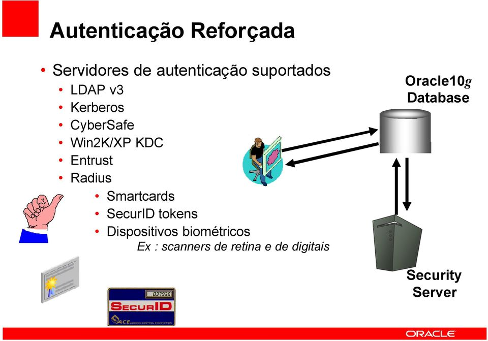 Radius Smartcards SecurID tokens Dispositivos biométricos