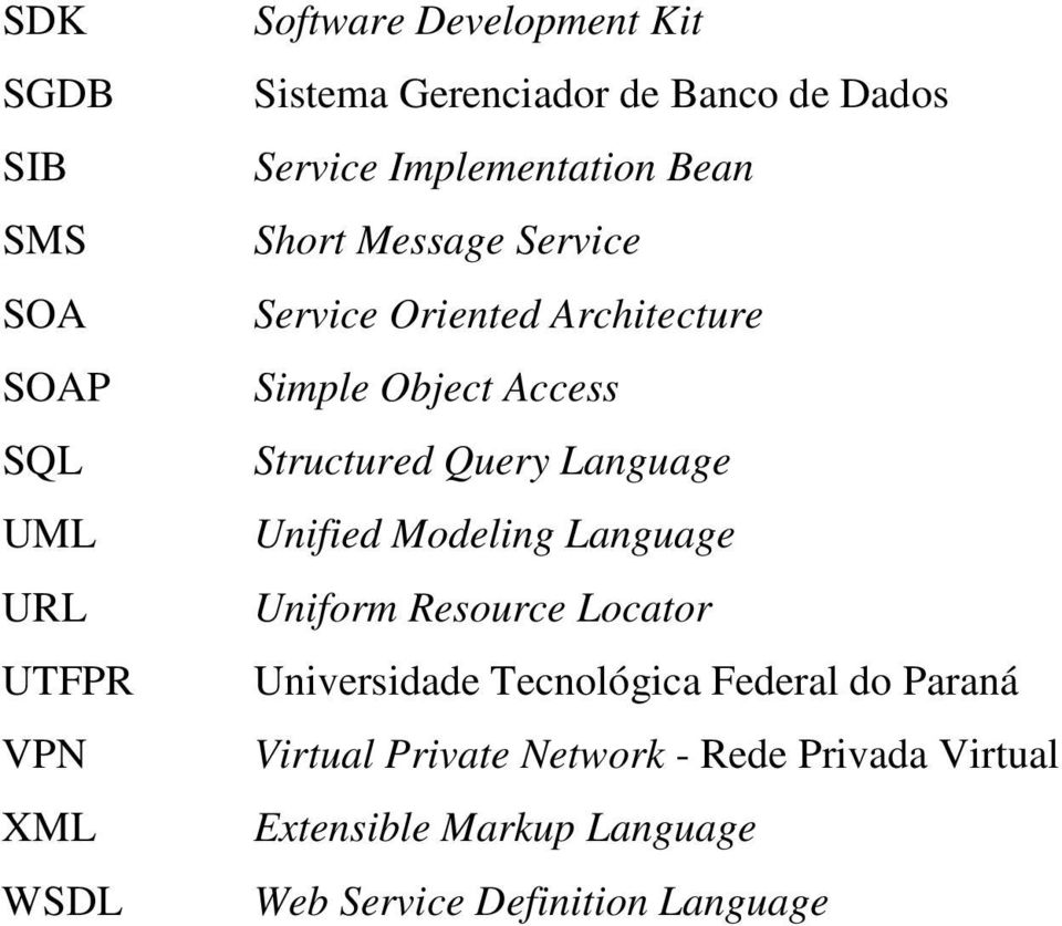 Structured Query Language Unified Modeling Language Uniform Resource Locator Universidade Tecnológica Federal