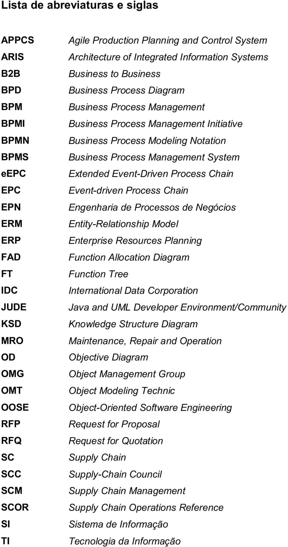 Notation Business Process Management System Extended Event-Driven Process Chain Event-driven Process Chain Engenharia de Processos de Negócios Entity-Relationship Model Enterprise Resources Planning