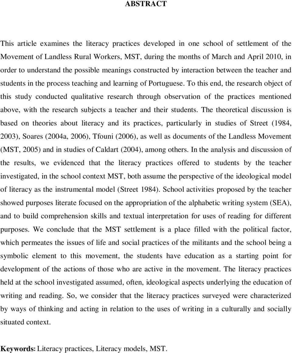 To this end, the research object of this study conducted qualitative research through observation of the practices mentioned above, with the research subjects a teacher and their students.