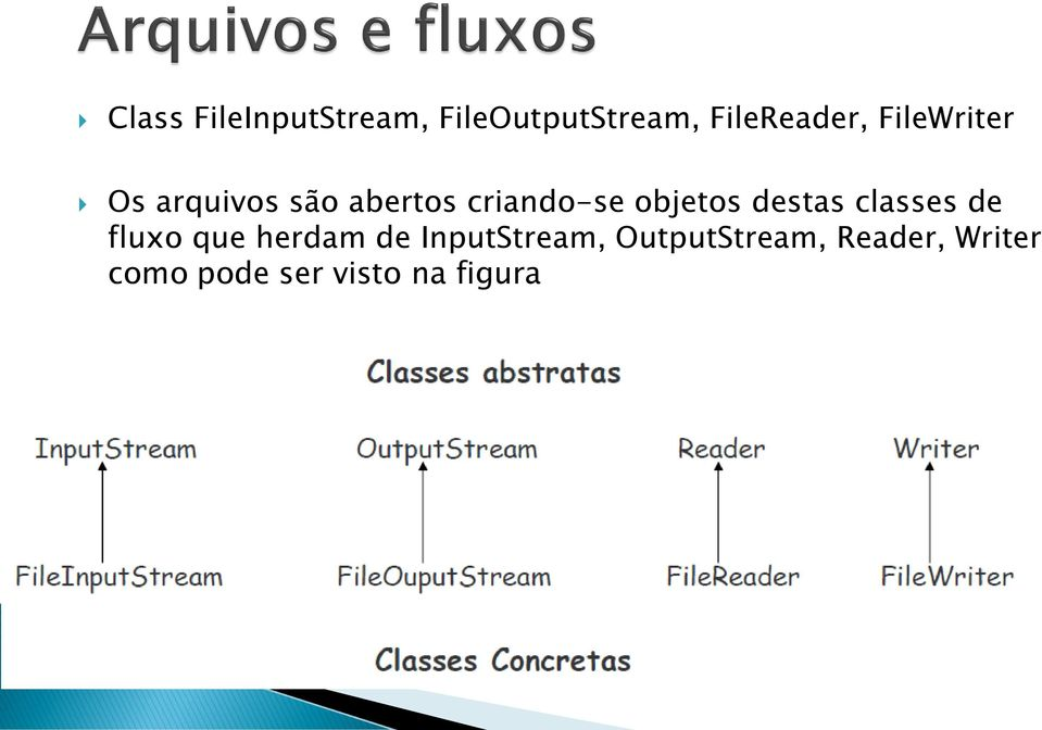 destas classes de fluxo que herdam de InputStream,