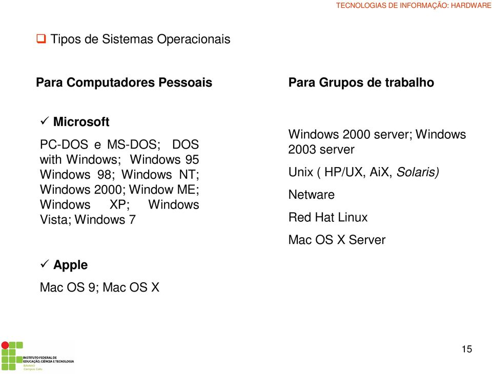 2000; Window ME; Windows XP; Windows Vista; Windows 7 Windows 2000 server; Windows 2003