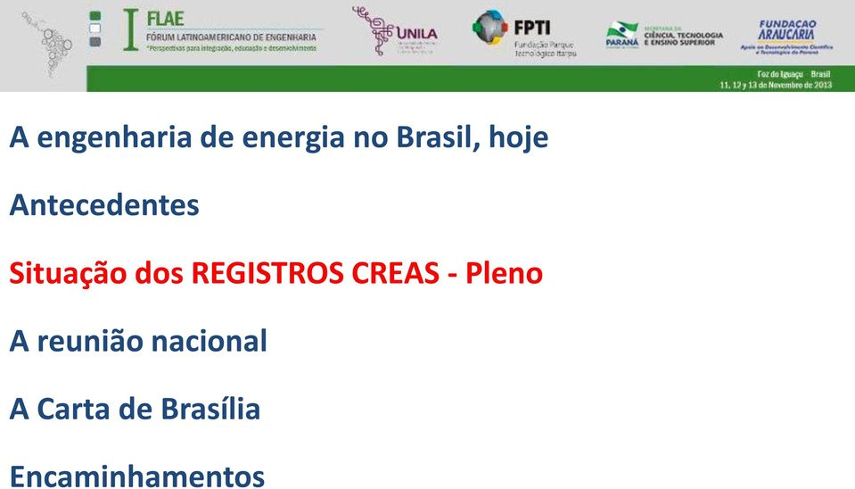 REGISTROS CREAS - Pleno A reunião