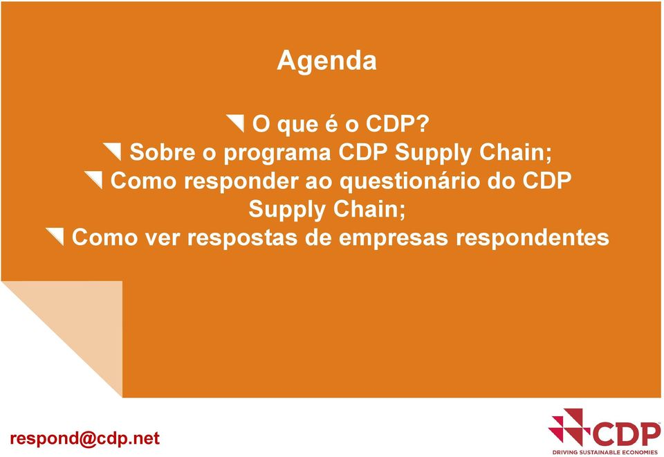 responder ao questionário do CDP Supply