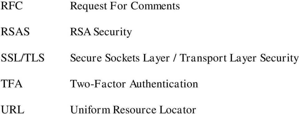 Layer / Transport Layer Security