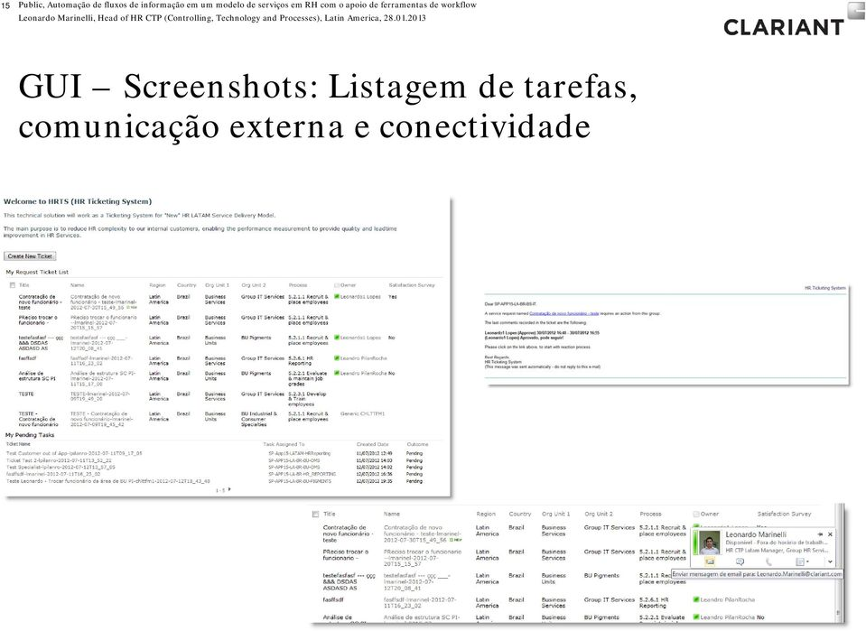ferramentas de workflow GUI Screenshots: