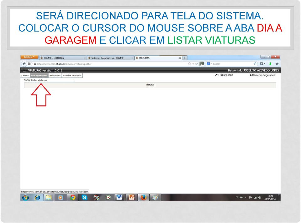 COLOCAR O CURSOR DO MOUSE