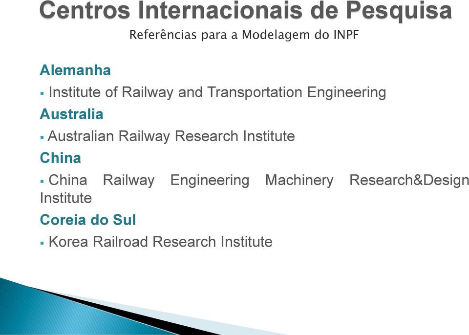 Institute China China Railway Engineering Machinery Research&Design