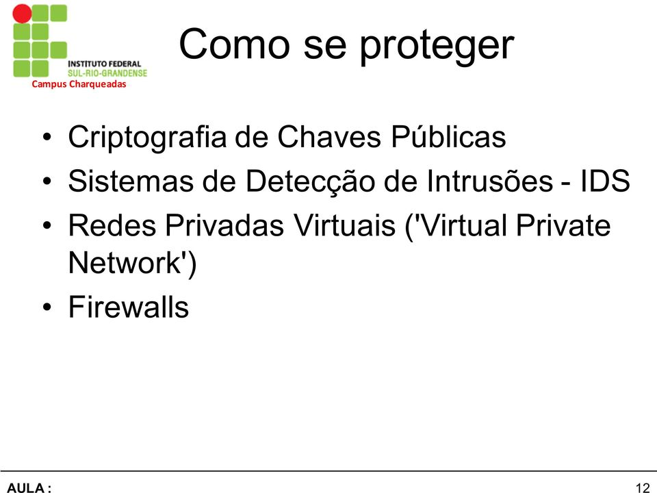 de Intrusões - IDS Redes Privadas