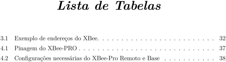 1 Pinagem do XBee-PRO............................. 37 4.