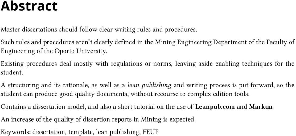 Existing procedures deal mostly with regulations or norms, leaving aside enabling techniques for the student.