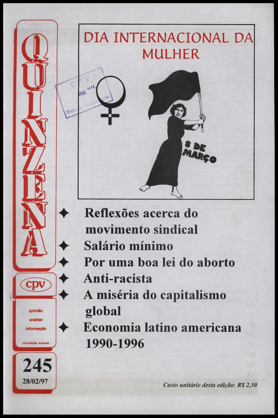 aborto Anti-racista A miséria do capitalismo global