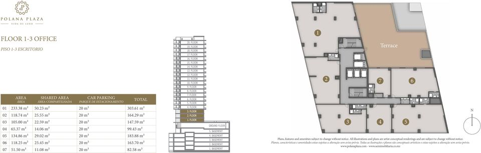 08 m2 20 m2 82.58 m2 3 4 5 Plans, features and amenities subject to change without notice. All illustrations and plans are artist conceptual renderings and are subject to change without notice.
