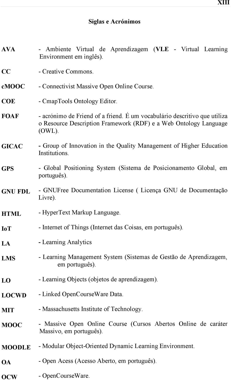 É um vocabulário descritivo que utiliza o Resource Description Framework (RDF) e a Web Ontology Language (OWL). - Group of Innovation in the Quality Management of Higher Education Institutions.